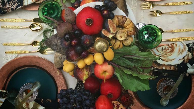 A Luscious Rosh Hashanah Tablescape