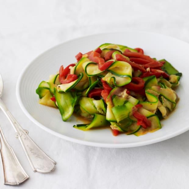 Zucchini and Red Bell Pepper Sauté