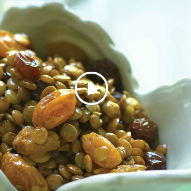Champagne Sweetened Lentils Recipe