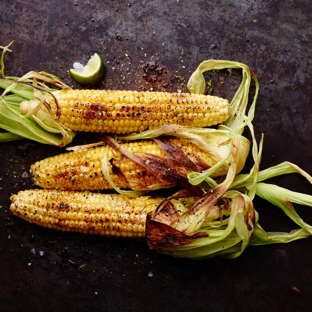 corn on the cob with chili lime oil