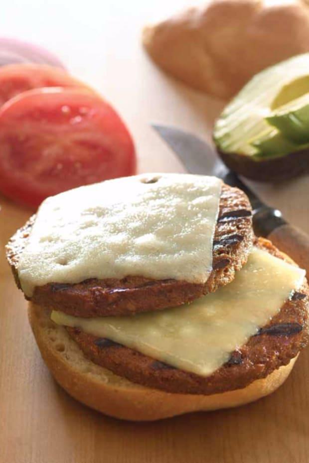 Double Veggie Cheeseburgers