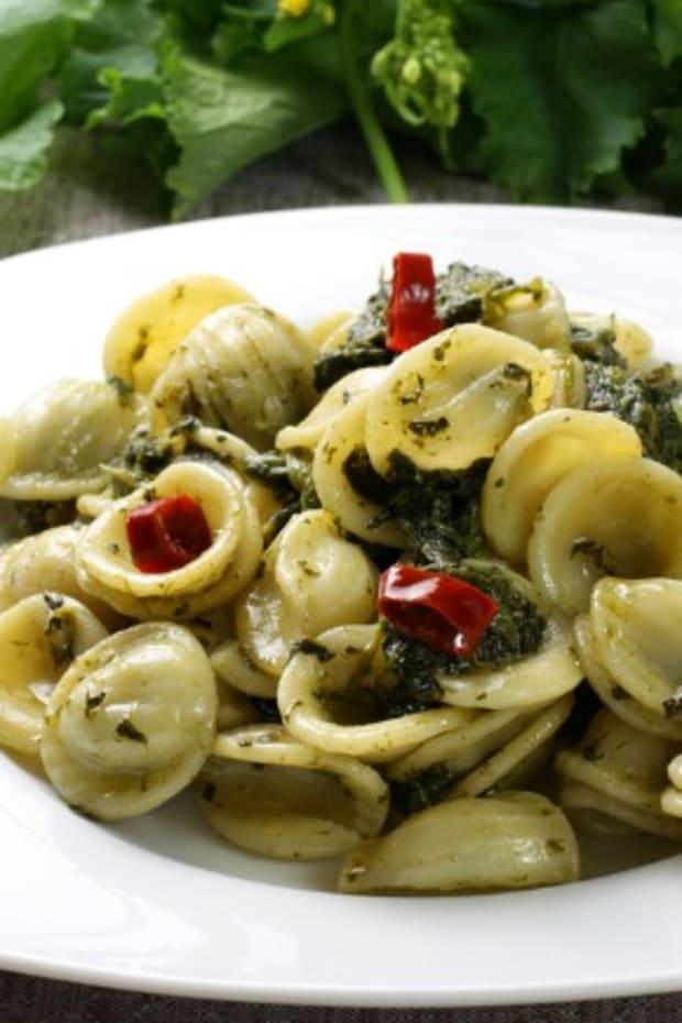 pesto pasta with orchiette