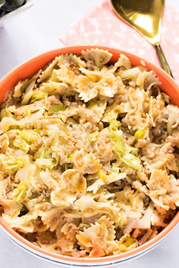 cabbage leek kasha