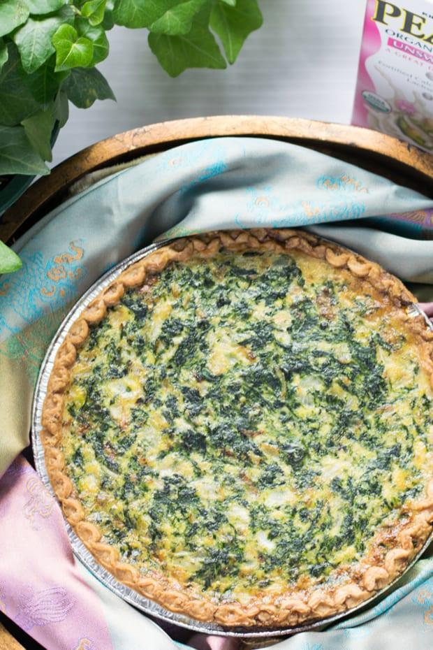 Jamie Geller - Spinach Caramelized Onion Quiche