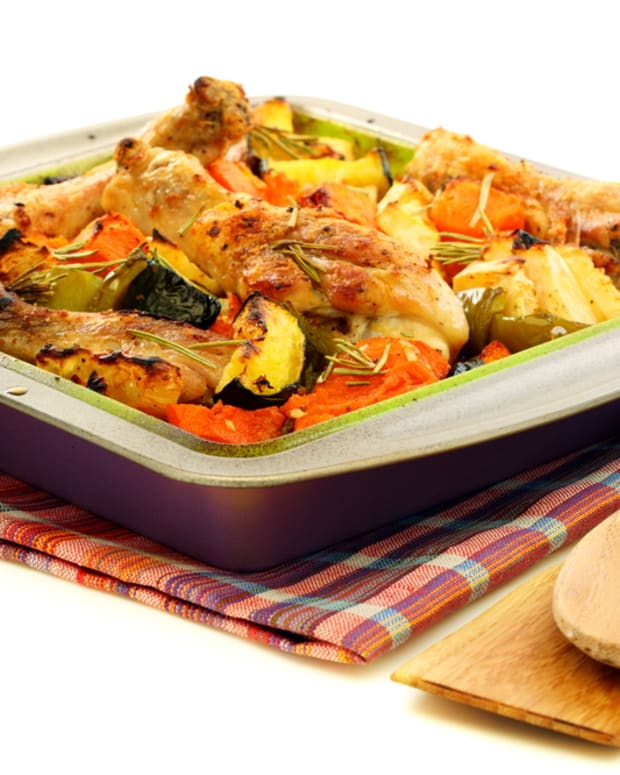 pumpkin with chicken and zucchini