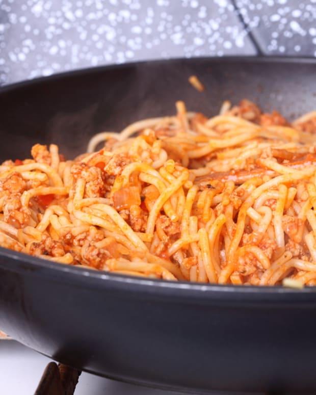 Italian sausage and pumpkin pasta