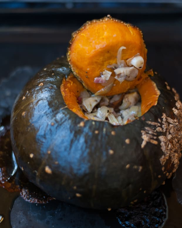 stew in a pumpkin