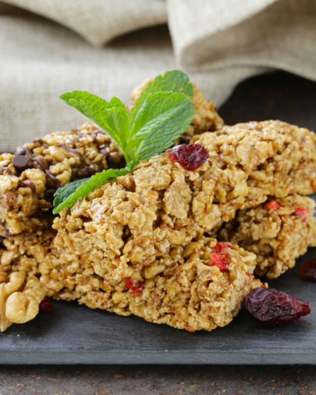 power packed oat bars with cranberry, apricot and pumpkin seeds