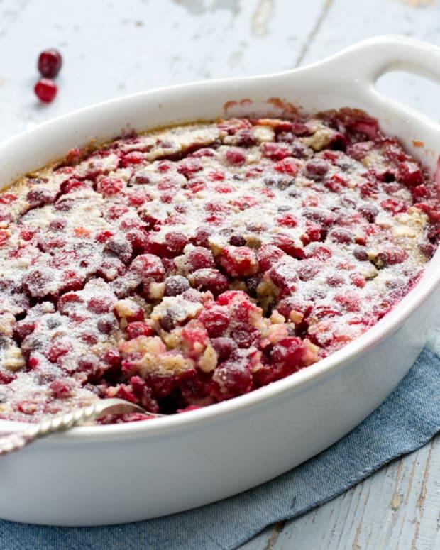 cranberry cinnamon clafoutis