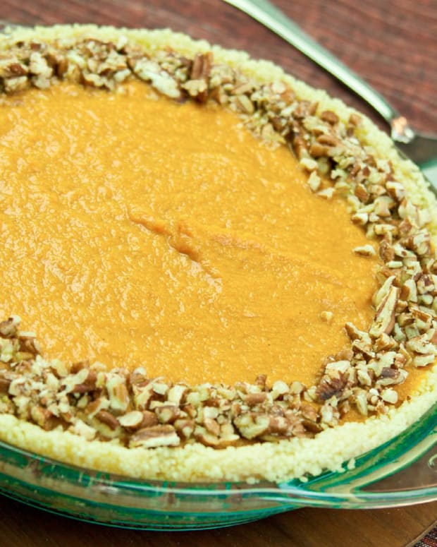 Eggless No Bake Pumpkin Pie