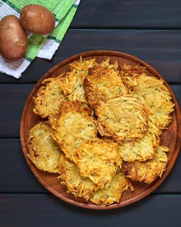 Pastrami Latkes