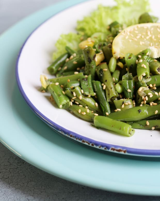 sesane green beans