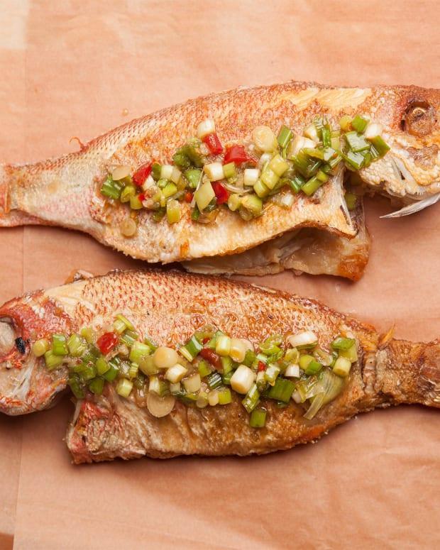 Whole Crisp Fish with Sichuan Sauce