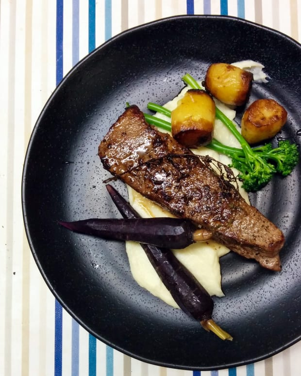 Sous Vide Steak with Mini Potato Fondants