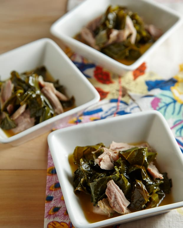 "Braised Collard Greens With ""Pot Liquor"""