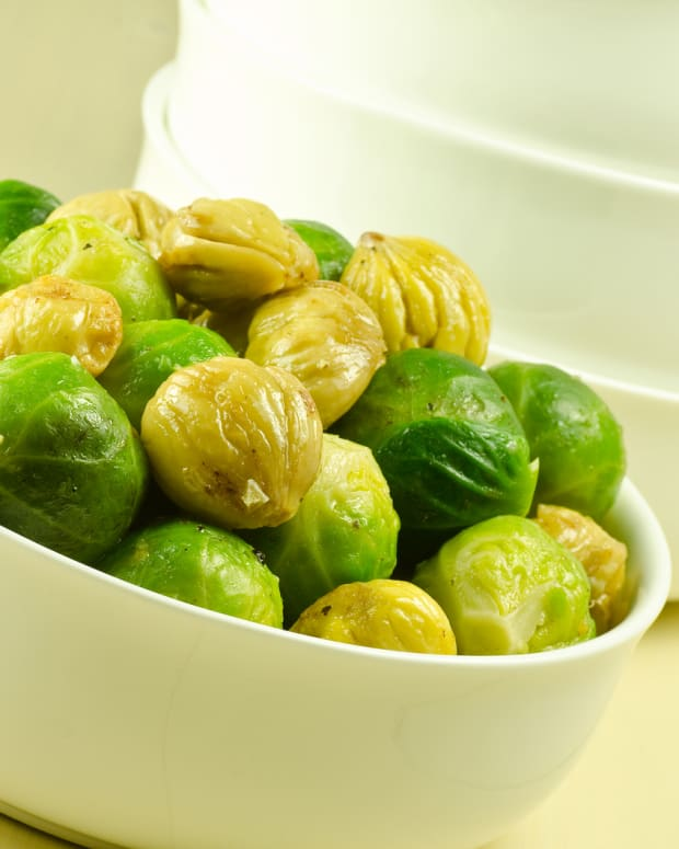 sauteed brussels sprouts with chestnuts