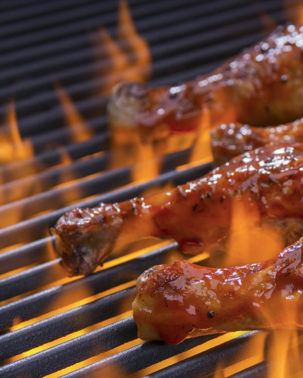Apple brown sugar barbecued chicken