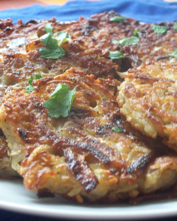French Onion Potato Latkes