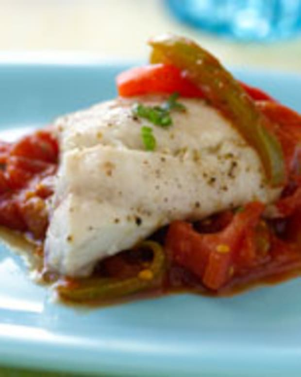 Baked Red Snapper With Zesty Tomato Sauce