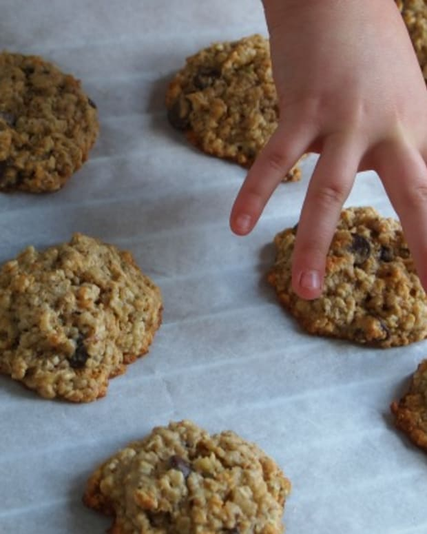 Banana Chocolate Oatmeal Muffin Top Cookies