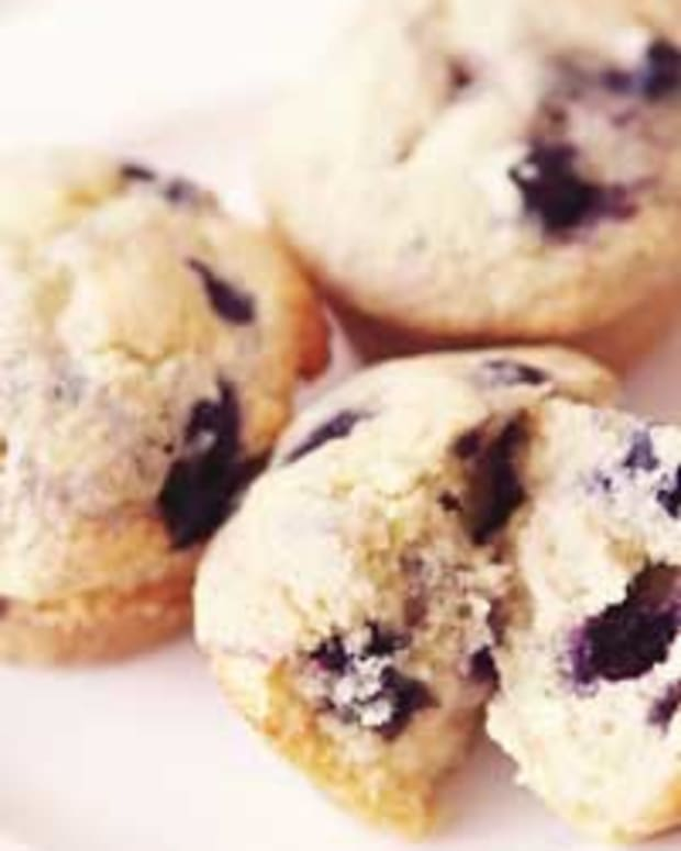 Wild Blueberry Gingered Lemon Muffins