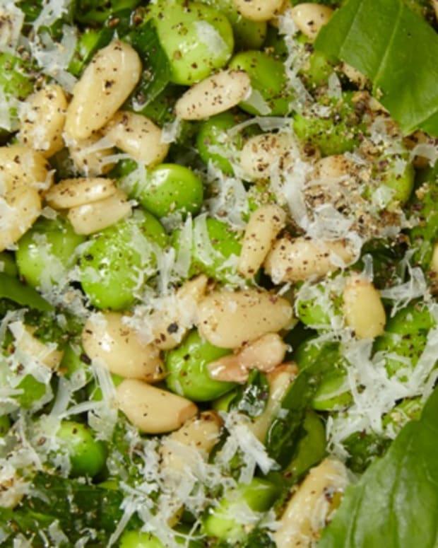 Fresh Fava Salad