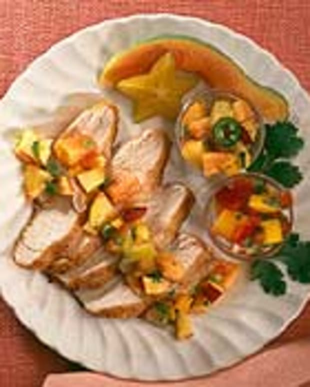 Sauteed Turkey Tenderloins with Fruit Salsas