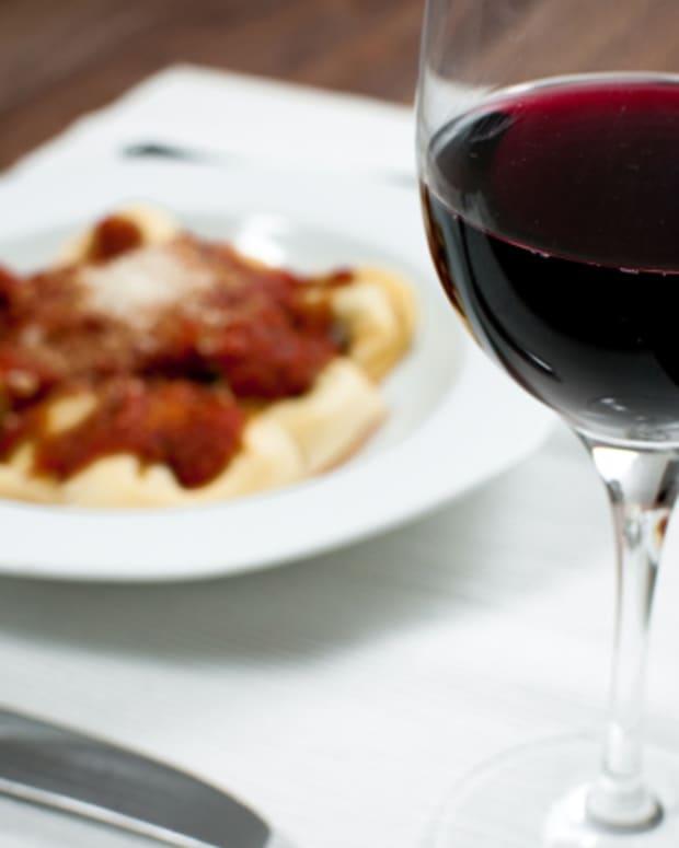 pasta-red-wine
