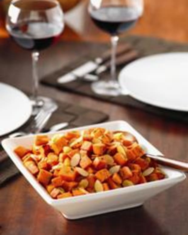 Roasted Almond Sweet Potatoes