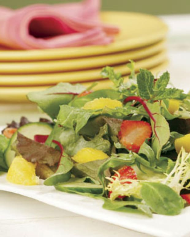 Strawberry and Mango Salad with Citrus Vinaigrette