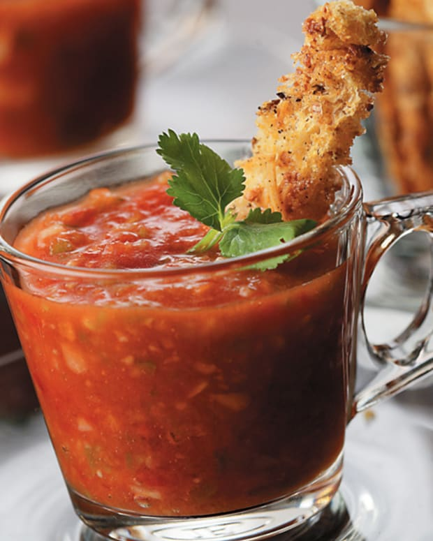 Gazpacho with Multigrain Croutons