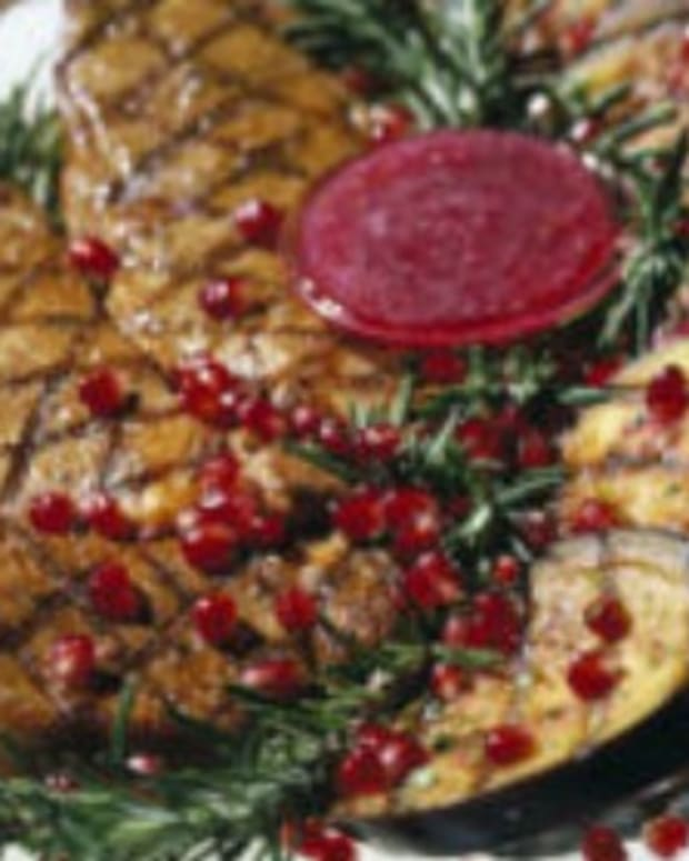 Grilled Eggplant with Pomegranate Sauce