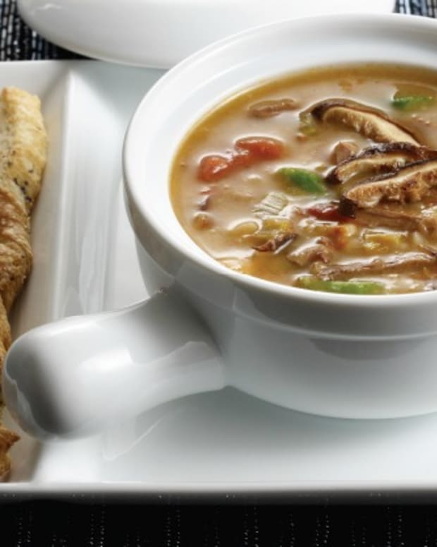 Shiitake Beef and Barley Soup