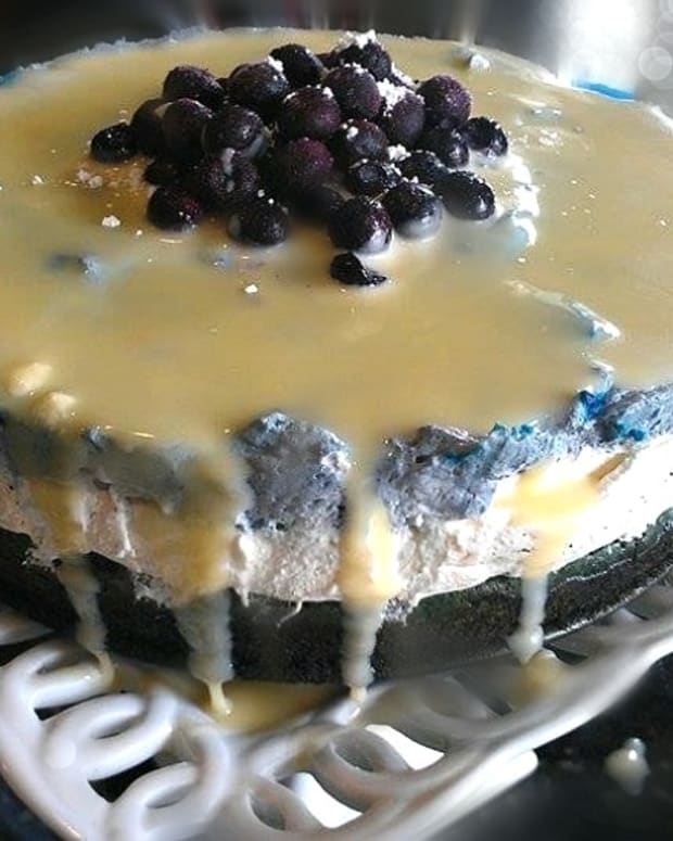 Triple Layer Blue and White Mousse Cake - specially for Yom Haatzamut - Israel's Independence Day