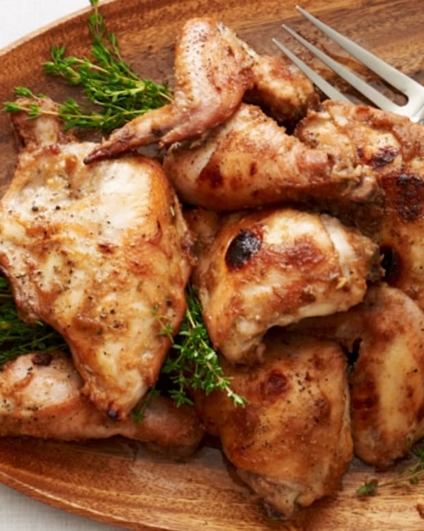 Date Glazed Roast Chicken
