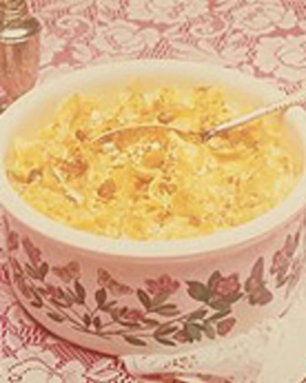 Egg Noodle Bake with Golden Raisins
