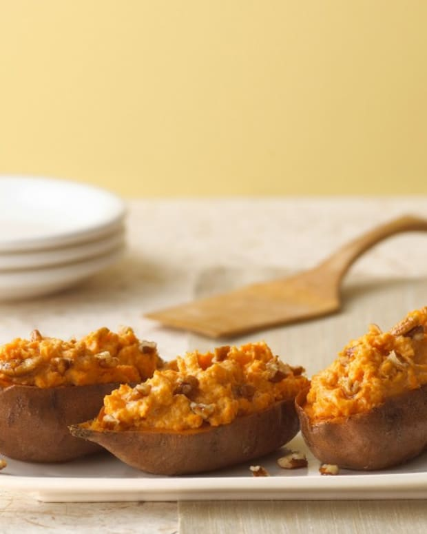 twice baked sweet potatoes with cream cheese