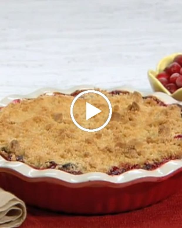 cran apple crunch kugel video