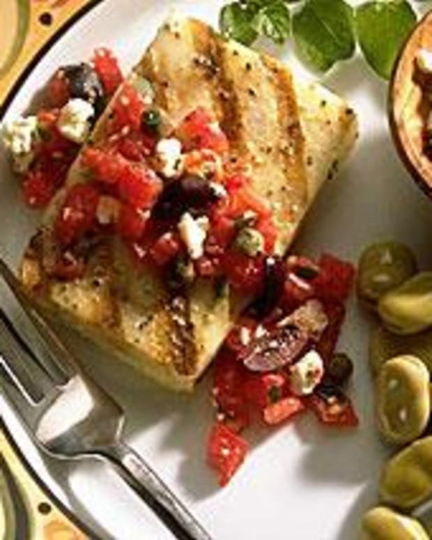 Cod Fillets with Greek Salsa
