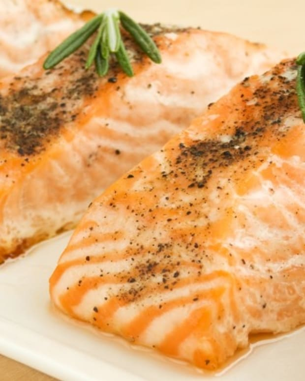 baked salmon with herbs