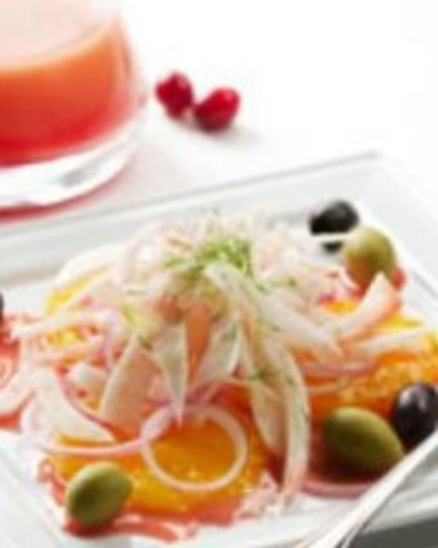 Orange, Olive and Fennel Salad with Cranberry Vinaigrette