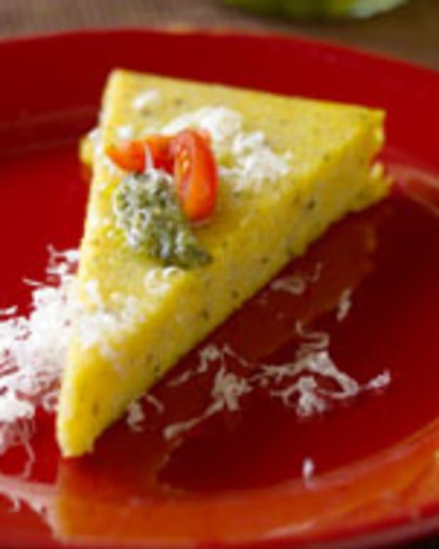 Pesto Baked Polenta