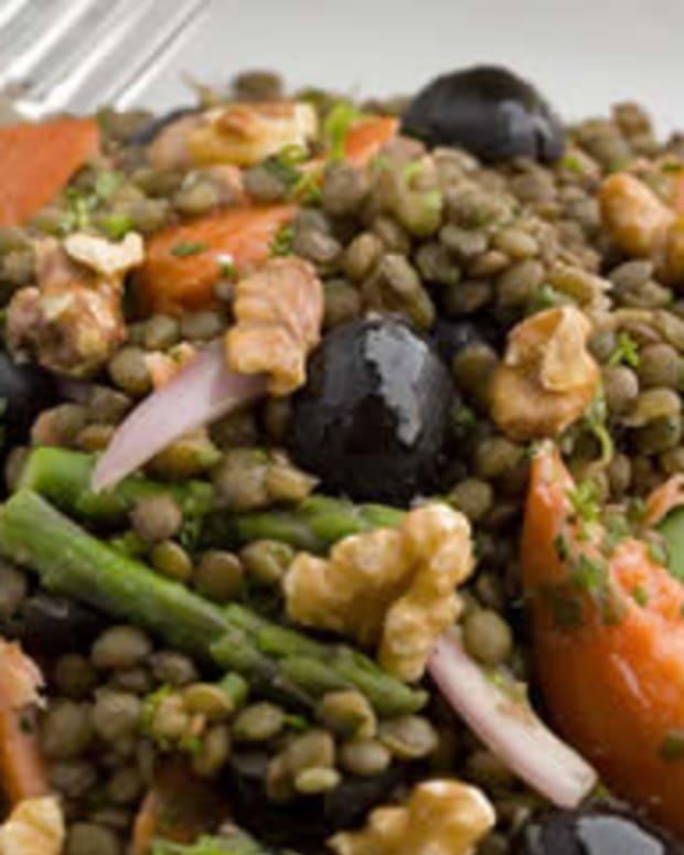 Herbed Salmon Lentils