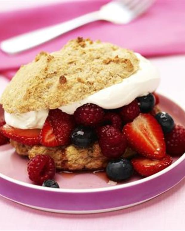 Spiced Triple Berry Shortcakes