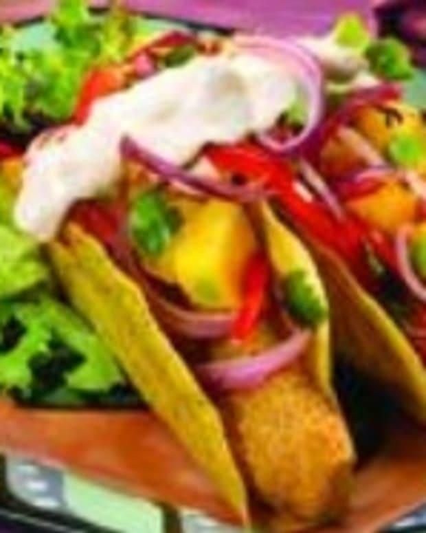 Baja Fish Tacos with Onion Mango Salsa