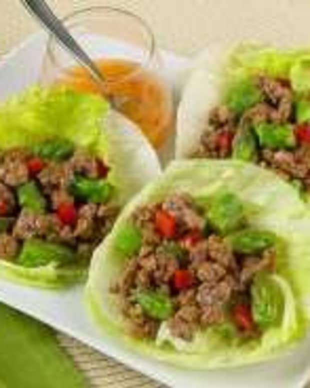 Tangy Lamb & Asparagus Lettuce Cups