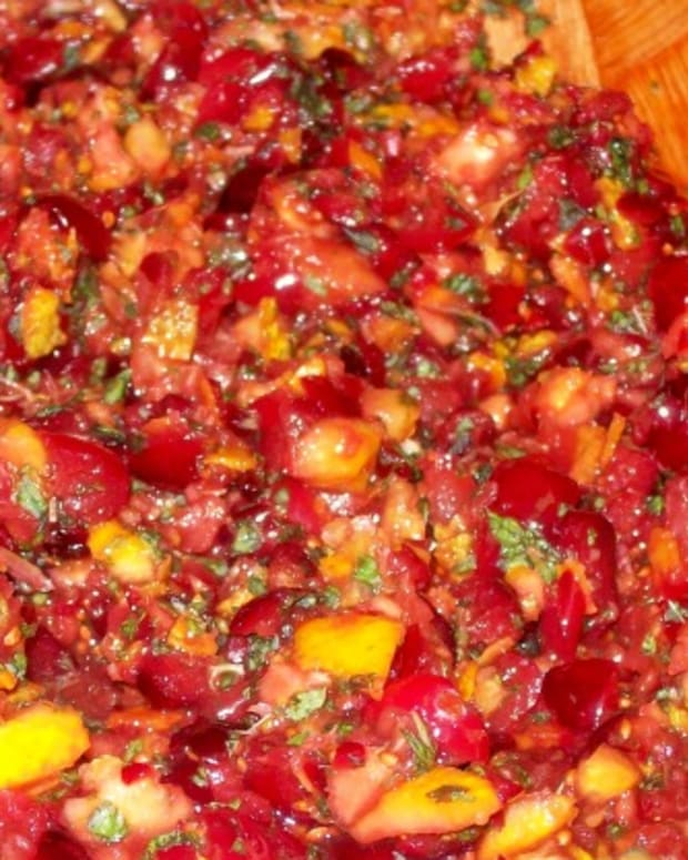 Minted Cranberry Orange Relish Recipe