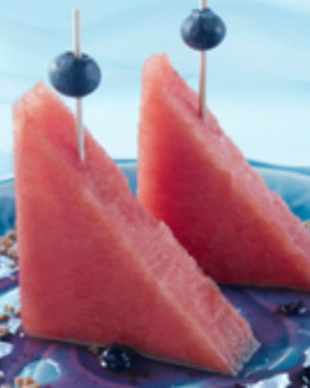 Watermelon Sailboats