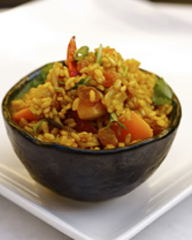Fragrant Long-Life Brown Rice with Sweet Potatoes