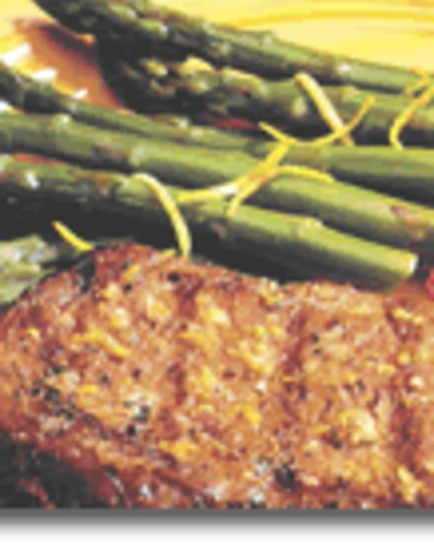 Grilled Prime Rib with California Jumbo Asparagus